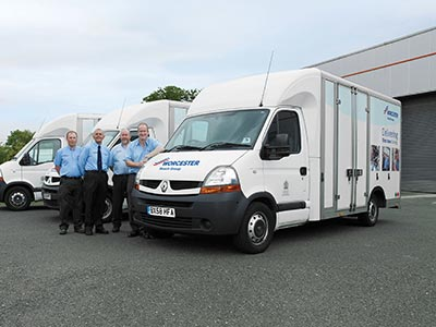 Photo of a mobile training van from the outside.