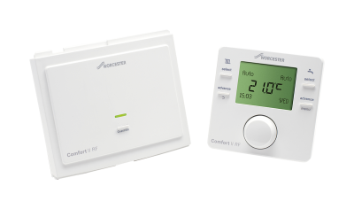 Greenstar Comfort II programmable room thermostat and RF receiver