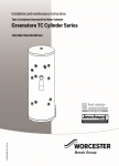 Worcester Greenstore TC Cylinder Installation and Servicing Instructions