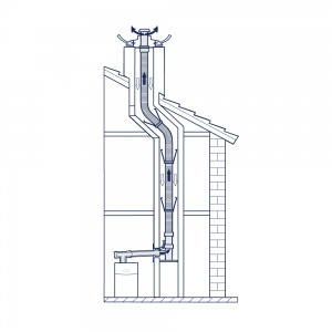 80 mm Flexible Flue System