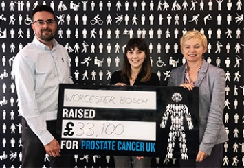 Worcester Bosch Raises Funds for Prostate Cancer UK