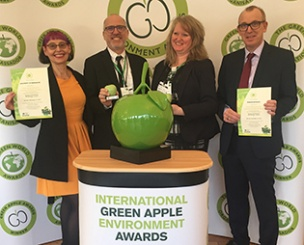 Sustainability at the core of Green Apple award win